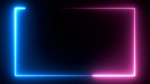 abstract seamless background blue purple spectrum looped animation fluorescent ultraviolet light glowing neon line Abstract background web neon box circle pattern LED screens and projection technology