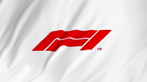 Editorial Animation: Waving flag with Formula One logo 2 in 1