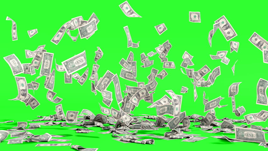 Hundred dollar banknotes fall on ground on green background | Shutterstock HD Video #1023258766