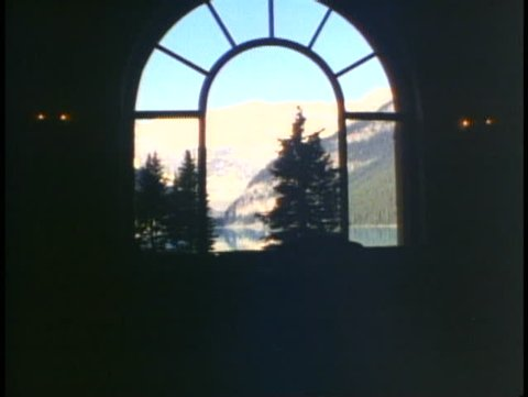 BANFF NATIONAL PARK, ALBERTA, 1990, Chateau Lake Louise, picture window