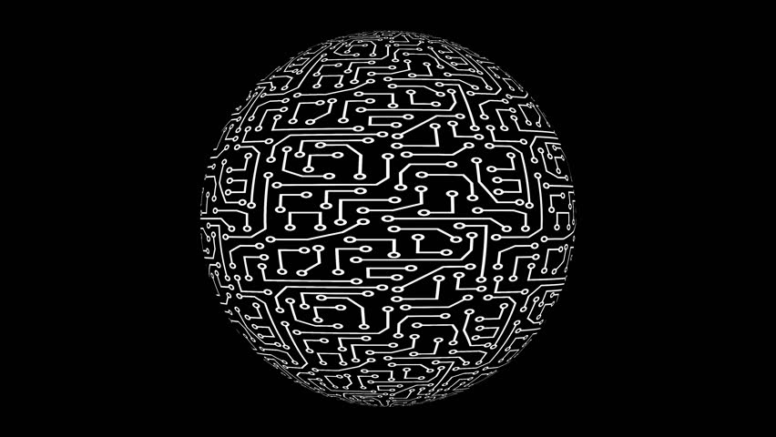 Animated looping techno ball with alpha. | Shutterstock HD Video #1023345736