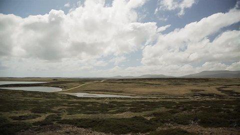 East Falkland, Falkland Islands (Islas Malvinas). Scene of the Battle of Goose Green during the Falklands War.
