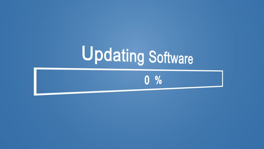 Update Software Process Animation Animation on Blue Background | Shutterstock HD Video #1023389896