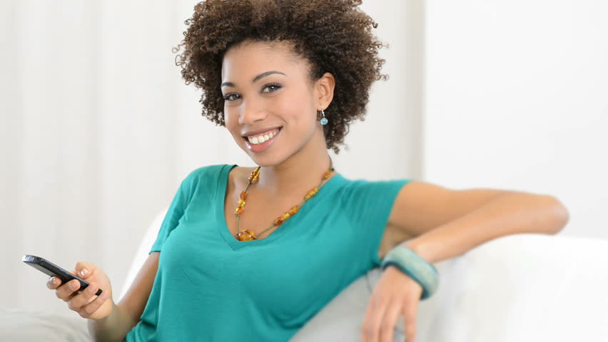 Happy Black Woman With Pregnancy Test Stock Footage Video 4377215  Shutterstock-8184