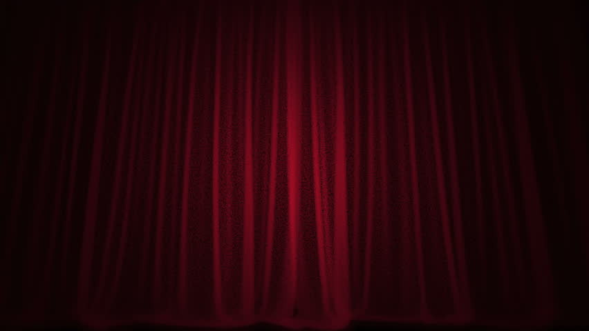 Red Curtain Shine Stars Stage
