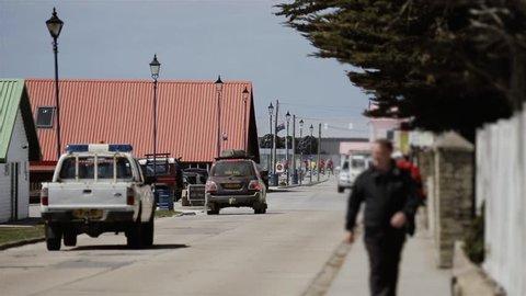 Port Stanley / Falklands - 20 June 2017: Port Stanley, Capital of the Falklands, East Falkland, Falkland Islands.