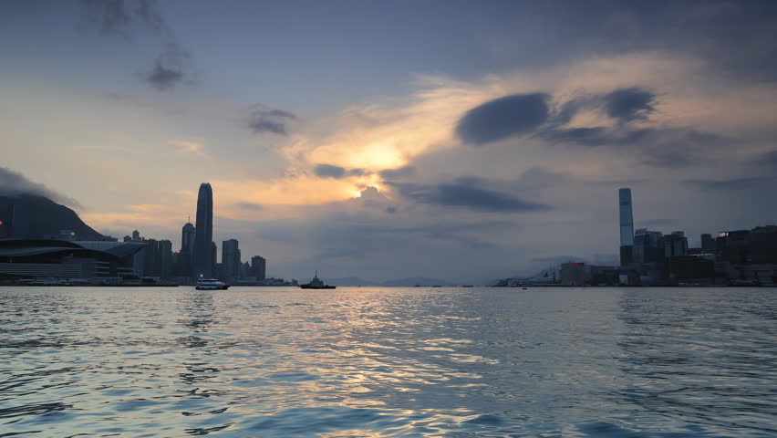 Hong Kong Skyline in the afternoon  | Shutterstock HD Video #1023997496