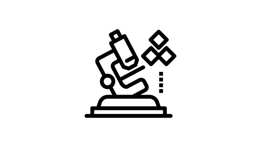 Microscope, Science, Lab, Medical Line Icon Motion Graphic Animation | Shutterstock HD Video #1024018256