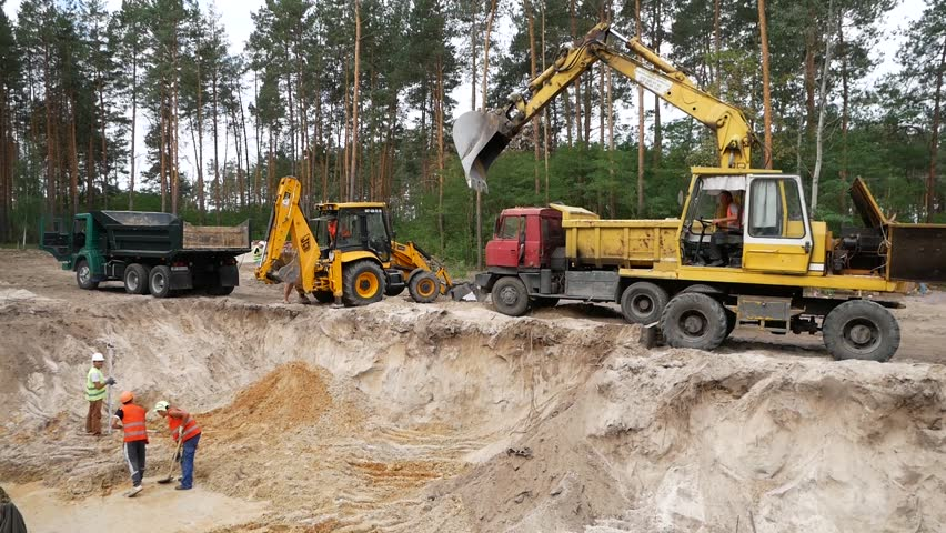 Two Excavator Buckets are Gaining Stock Footage Video (100% Royalty-free)  1024031486 | Shutterstock