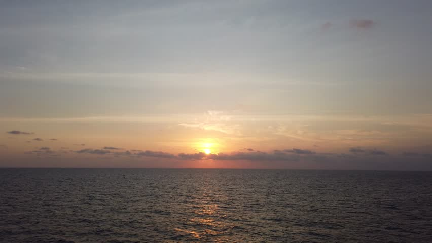 Beautiful Sunset and Sunrise in The Middle of The Ocean  | Shutterstock HD Video #1024377446