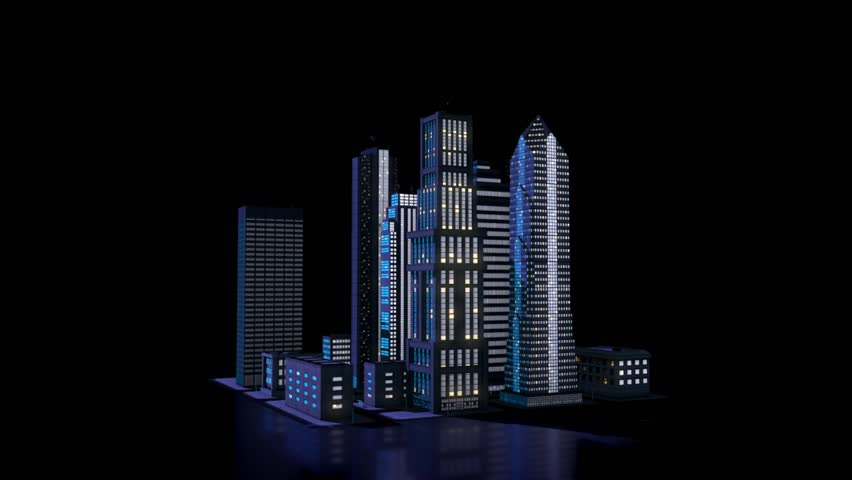 3d City Model, Skyscrapers in Stock Footage Video (100% Royalty-free)  1024383296 | Shutterstock