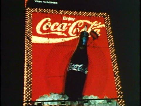 NEW YORK CITY, 1994, Times Square, Coca Cola, Coke sign, active neon