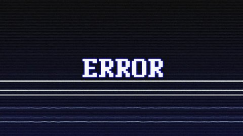 ERROR Glitch Text Animation, Rendering, Background, with Alpha Channel, Loop, 4k