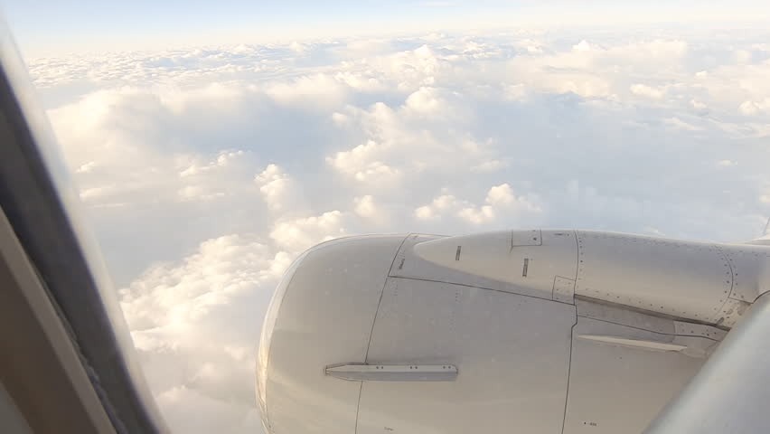 View from the commercial passenger airplane. #1024535726