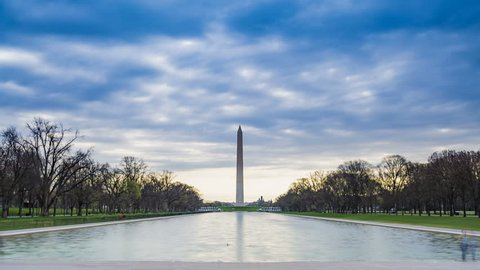 Washington Monument in early morning, located in Washington DC, USA.