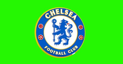 bddca2ee381621 3d movement Chelsea football club logo. Editorial animation USA 2019