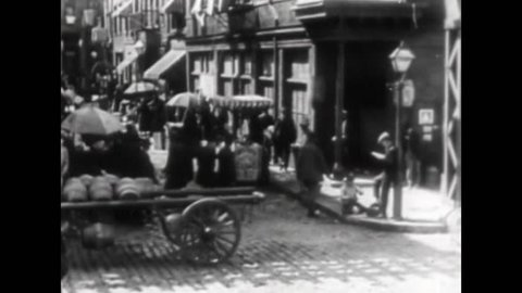 CIRCA 1900s - Scenes from American cities at the turn of the 20th century.