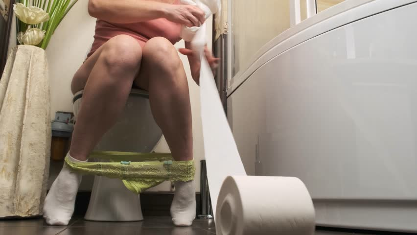 Woman sitting on toilet clips, how do you perform oral sex on a man