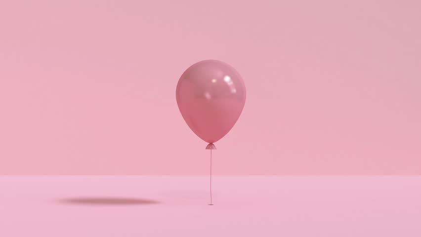 Pink balloon levitation/flay up to top 3d rendering abstract motion | Shutterstock HD Video #1025002616