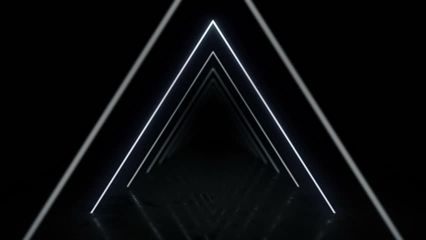 Abstract background with animation of flight in abstract futuristic tunnel with neon light. Animation of seamless loop.  #1025050826