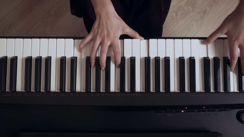 Young Females Pianist Hands Playing Stock Footage Video (100% Royalty-free)  1025129156 | Shutterstock