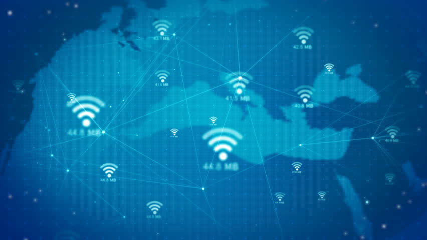 Wifi icon animate background.Network technology concepts | Shutterstock HD Video #1025365286