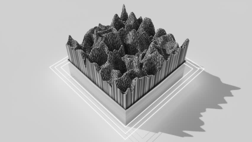 4K Minimalist cubic design. Seamless loop | Shutterstock HD Video #1025382626