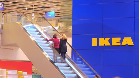 lubeck germany january 12 2018 ikea the furniture store entrance in