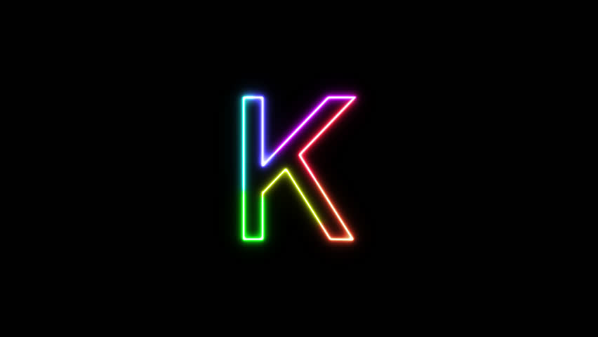 Letter K - Outline Neon Stock Footage Video (100% Royalty-free) 1025436956  | Shutterstock