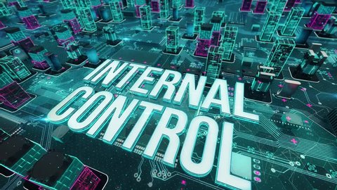 Internal Control with digital technology concept