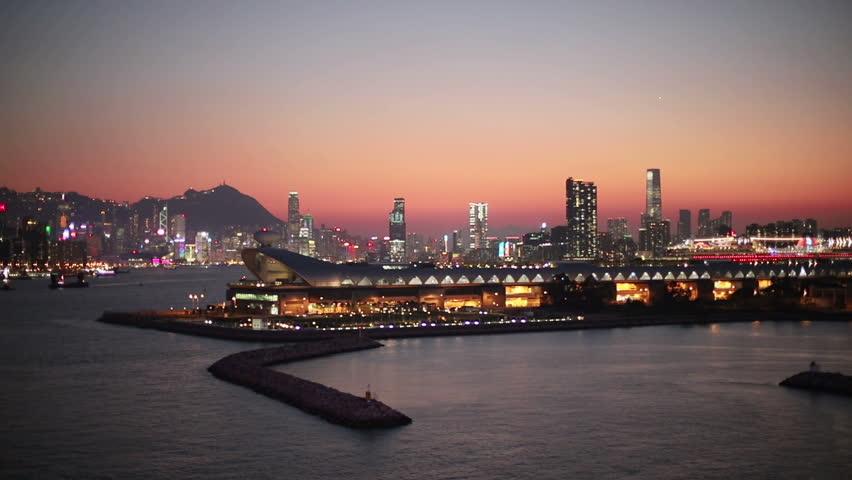 Kwun tong view of hong kong city | Shutterstock HD Video #1025674106
