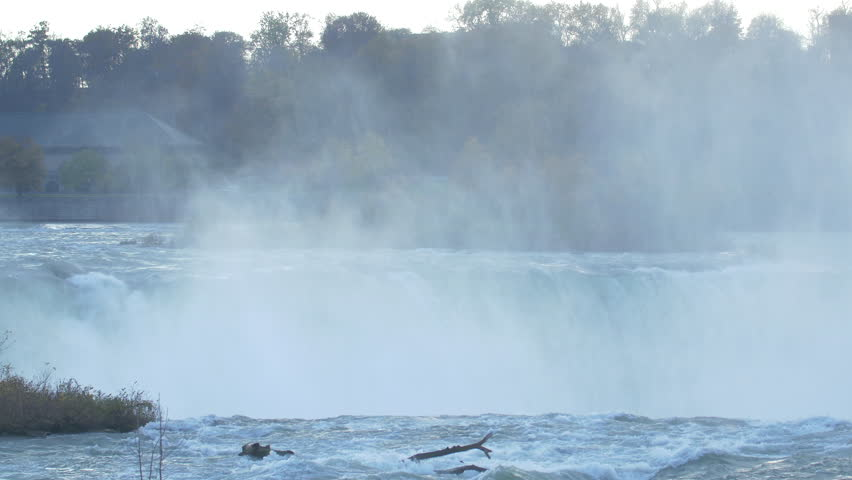 Cloud of mist rising at Niagara Falls, Canada  | Shutterstock HD Video #10256756