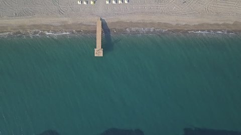izmir coast beaches, aerial view, us01, empty top down view