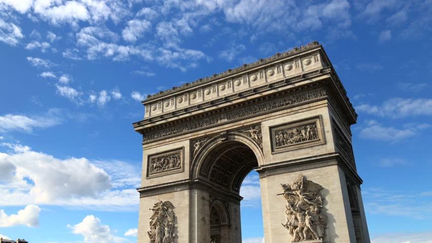 Arch of Triumph Paris France   Shutterstock HD Video #1025723276