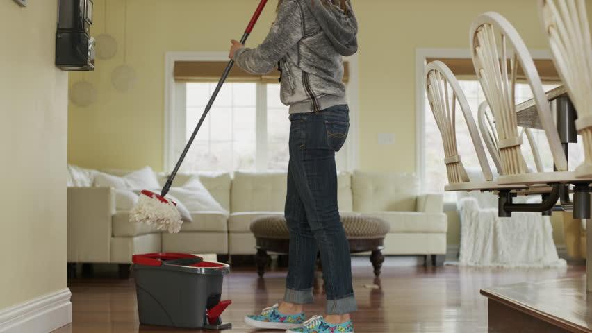 mopping floor stock footage video | shutterstock