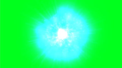 Atomic energy on green screen