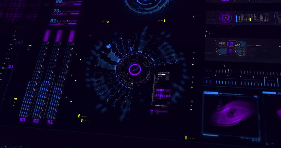 FUI HUD Design 4K UI UX Animation | Shutterstock HD Video #1025863106