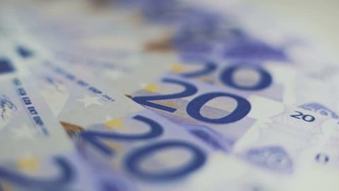 Twenty euro bills