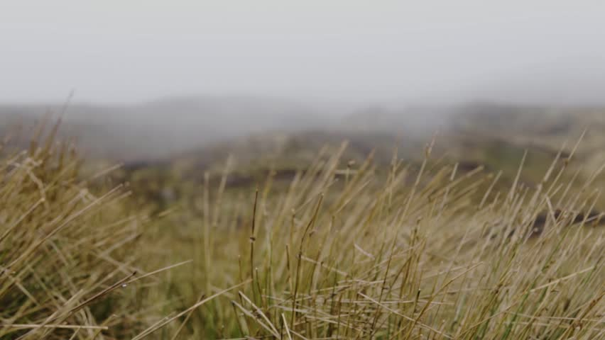 SLOW MOTION: Moody landscape close up on the Isle of Skye in Scotland | Shutterstock HD Video #1025878796
