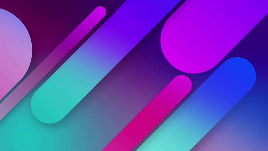 Abstract seamless 4k background blue purple spectrum looped animation fluorescent ultraviolet light glowing neon lines Abstract background 4k neon box circle pattern LED screens 4k projection mapping