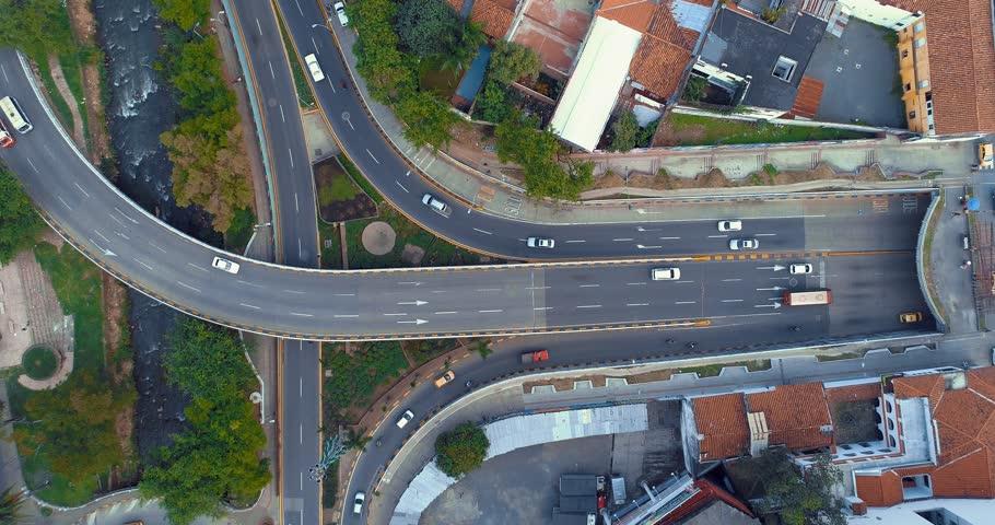 Cali aerial view 5th street avenue 4K