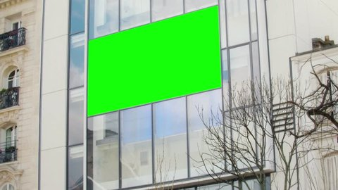 street video bilboard advert - green key