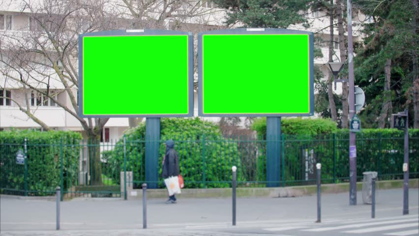 Street bilboard advert - green key | Shutterstock HD Video #1026049976