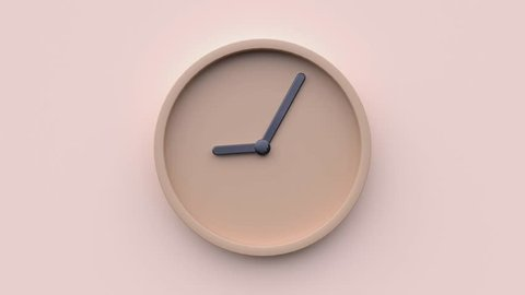 minimal abstract motion 3d rendering clock time concept time lapse hours