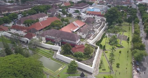 The Fort Vredeburg Museum, which was recorded from the sky
