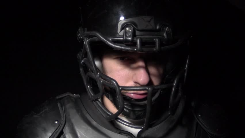 Beautiful smile of american football player | Shutterstock HD Video #1026273656