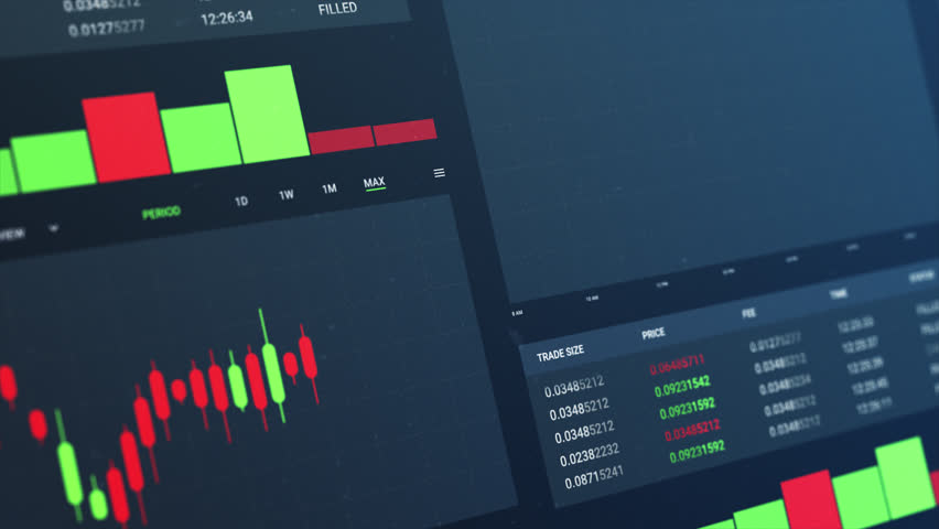 Financial charts and diagrams and stock numbers 4k animation | Shutterstock HD Video #1026562886