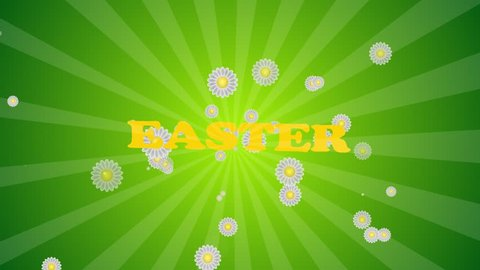 Easter eggs border frame. Easter eggs rotating - seamless loopable colorful background animation.