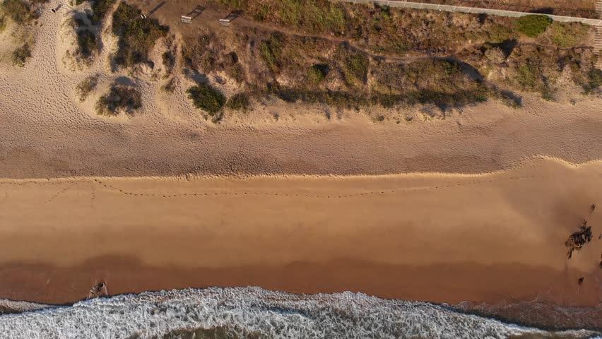 Drone Dolly Shot of Beach in Mosselbaai South Africa | Shutterstock HD Video #1026892586