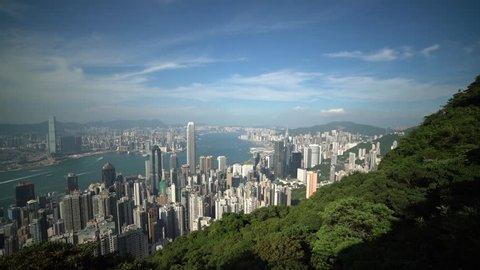 Hong Kong Panoramic view from Victoria Peak